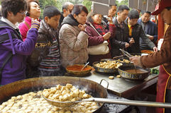 Crowded people to buy food Royalty Free Stock Photo