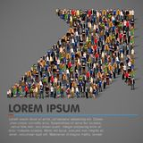 Crowded people vector arrow symbol Royalty Free Stock Photos