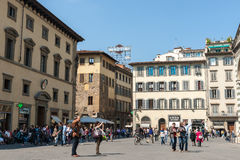 Crowded Piazza Del Duomo Stock Images