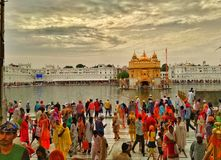 Crowded place Golden temple Stock Photos