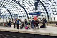 Crowded Platform Royalty Free Stock Photography