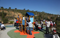 Crowded playground Royalty Free Stock Image