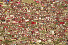 Crowded Red House Royalty Free Stock Photos