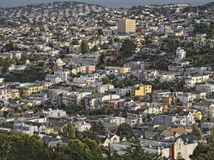 Crowded San Francisco Hillside Stock Photography