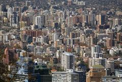 Crowded Santiago Royalty Free Stock Photography