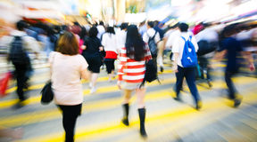 Crowded seen in downtown Hong Kong Stock Photography
