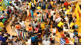 Crowded shoping centre, sale off season Royalty Free Stock Image