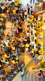 Crowded shoping centre, sale off season Royalty Free Stock Photo