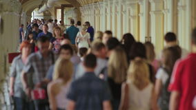 Crowded Shopping Gallery stock footage