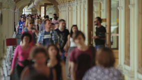 Crowded Shopping Gallery Timelapse Motion stock video footage