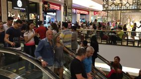Crowded Shopping Mall in Sao Paulo, Brazil stock video footage