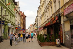 Crowded shopping street Royalty Free Stock Images