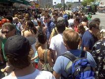 Crowded sidewalk Royalty Free Stock Image