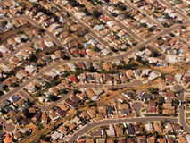 Crowded Single Family Homes in California Suburbs Royalty Free Stock Photos