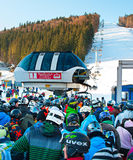 Crowded ski resort, Bukovel Stock Image