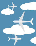 Crowded Skies stock illustration