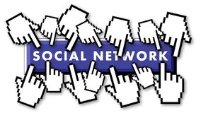 Crowded social network stock video footage