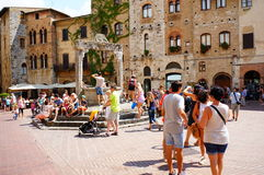 Crowded square Royalty Free Stock Image