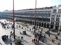 Crowded square in Venice Royalty Free Stock Photography