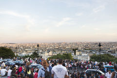 Crowded Staircase. A very crowded and popular staircase on Montmatre, Paris, France Stock Photography