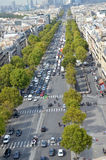 Crowded street in a big city. Traffic jam in a big city Royalty Free Stock Images