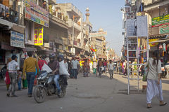 Crowded street in delhi Royalty Free Stock Photography
