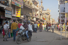 Crowded street in delhi Royalty Free Stock Photos