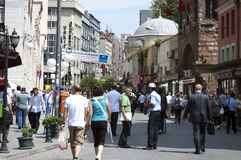 Crowded street in Istanbul Stock Photo
