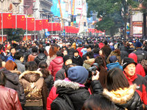 Crowded street Royalty Free Stock Photo