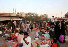 Crowded street market Royalty Free Stock Photography