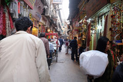 Crowded street in Old Delhi. Crowded Indian side street in Old Delhi, India Stock Photography