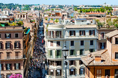 Crowded street in rome Stock Photography