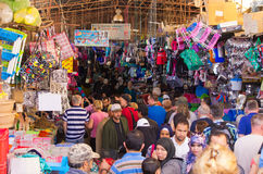 Crowded street of Taroudant , Morocco. Taroudant , Morocco - March 22, 2016: Crowded street. One of main streets during the rush hours Stock Image