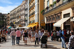 Crowded street, Valencia royalty free stock photography
