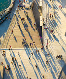 Crowded street, view from above Royalty Free Stock Photography