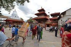 The crowded streets of Kathmandu, Nepal Stock Photos