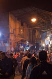 Crowded streets at night Stock Photos