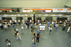 Crowded Subway Station, city Rio de Janeiro Stock Images