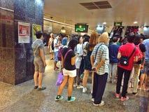 Crowded subway station Stock Image