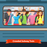 Crowded subway train Stock Photography