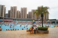 Crowded swimming pool Stock Image