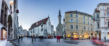 Crowded Tallinn Old town streets Royalty Free Stock Image