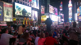 Crowded time square Royalty Free Stock Images