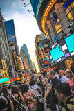Crowded Times Square, New York. Royalty Free Stock Photos