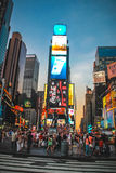 Crowded Times Square, New York. Royalty Free Stock Images