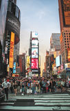 Crowded Times Square, New York. Stock Photos
