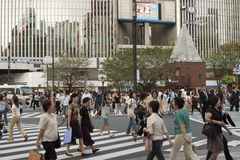 Crowded Tokyo Royalty Free Stock Photos