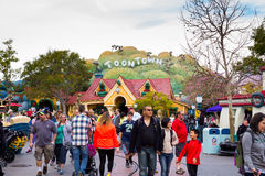 Crowded Toontown Disneyland Royalty Free Stock Photography