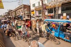 Crowded traffic, Varanasi Stock Image