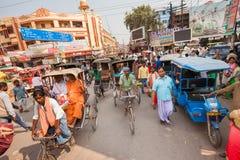 Crowded traffic, Varanasi Royalty Free Stock Photography
